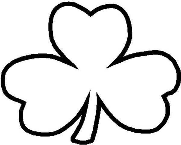 A Common Three Leaf Clover Coloring Page Color Luna Leaf Coloring Page Coloring Pages Three Leaf Clover