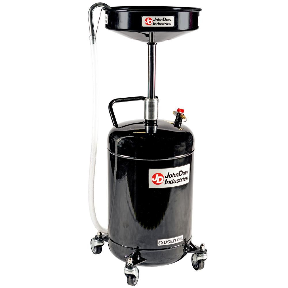 Johndow Industries 18 Gal Self Evacuating Portable Oil Drain Jdi 18dc The Home Depot Portable Expanded Metal Shower Oil