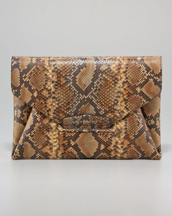 Antigona Python Envelope Clutch by Givenchy at Bergdorf Goodman.