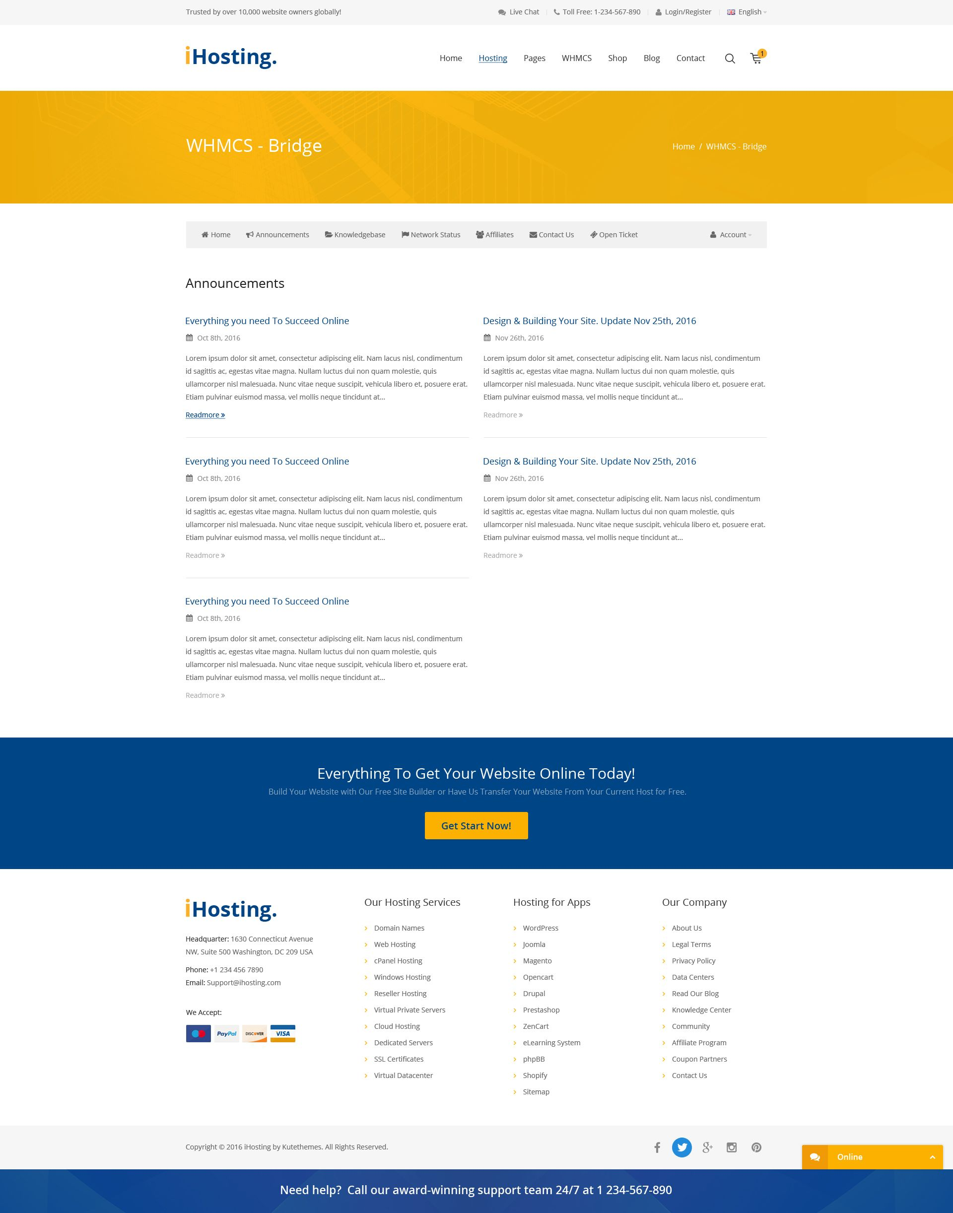 iHosting - SEO WHMCS Hosting, Shop & Business PSD Template #business,  #corporate, #hosting, #hosting template, #ihosting, #multipurpose,  #shopping, ...