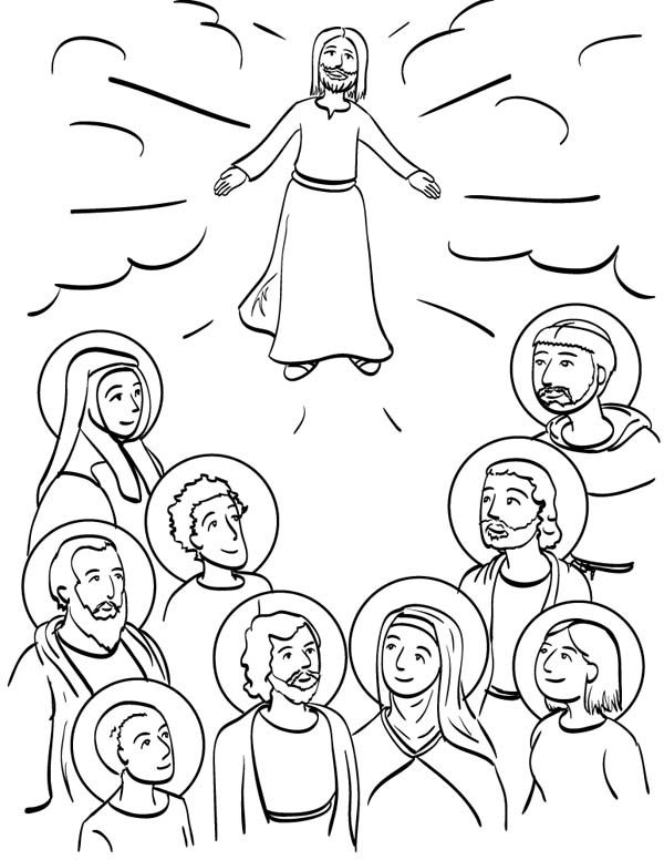 Communion Of Saints All Saints Day Coloring Page Communion Of St S Day Coloring Pages For Adults
