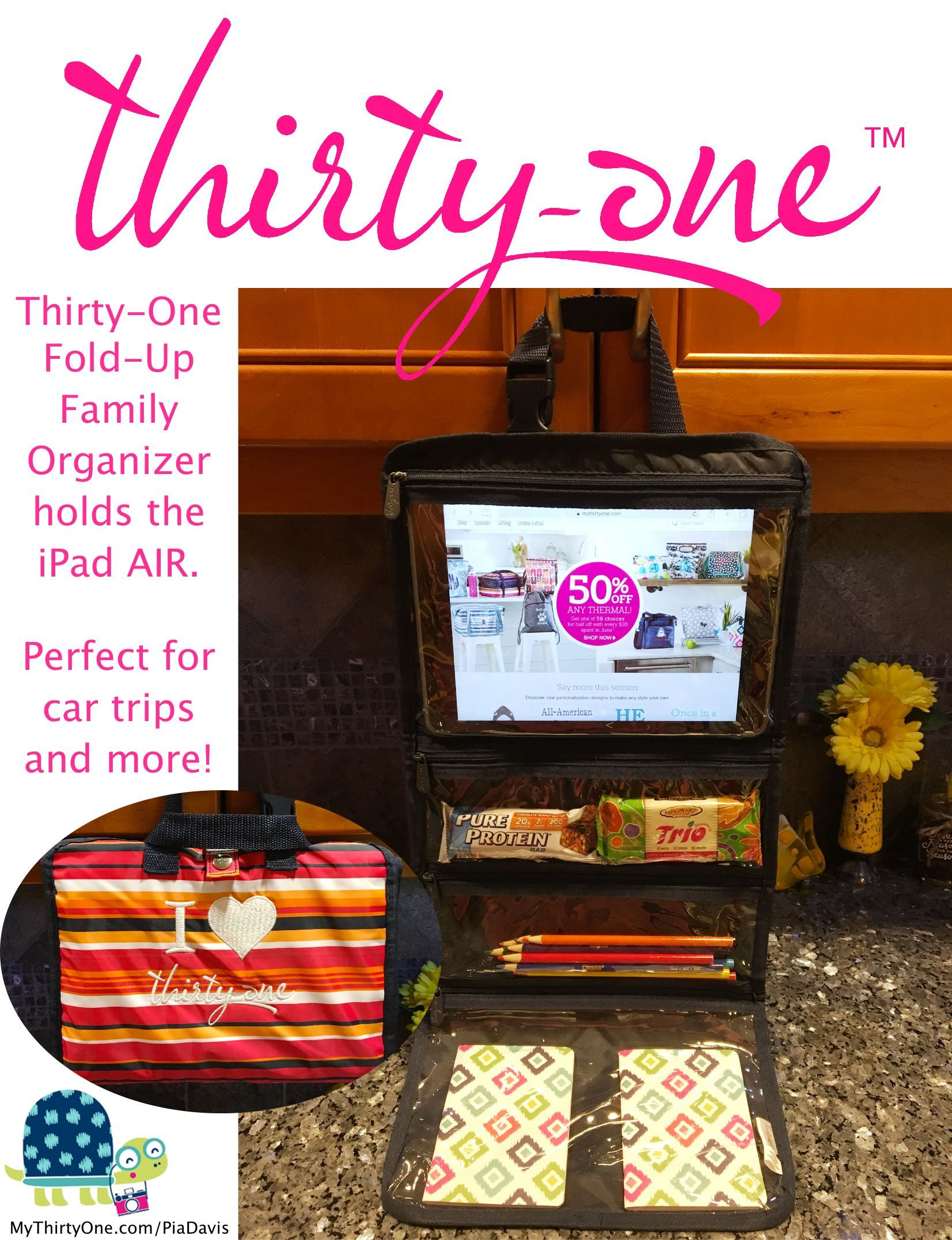 Thirty One Fold Up Family Organizer Holds An Ipad Air Perfect For