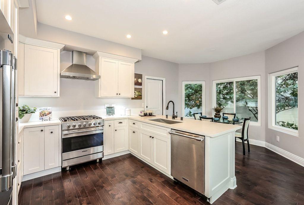 Traditional Kitchen With Undermount Sink, Flat Panel Cabinets, Lg Hausys  Hi Macs  · Silestone CountertopsWhite ...