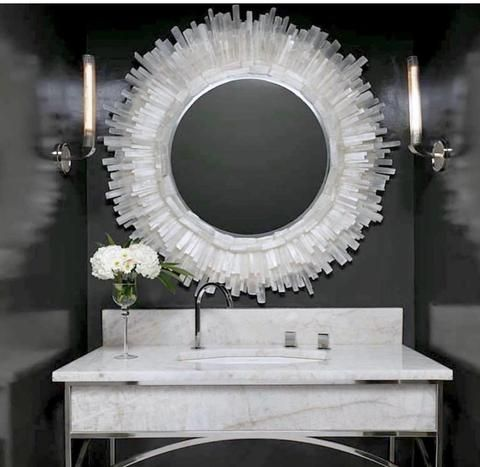 Selenite Fireplace Sculptures - So That's Cool  Decorating With Selenite