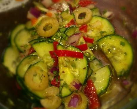 Algerian cucumber salad salads dressings pinterest make and share this algerian cucumber salad recipe from genius kitchen forumfinder Image collections