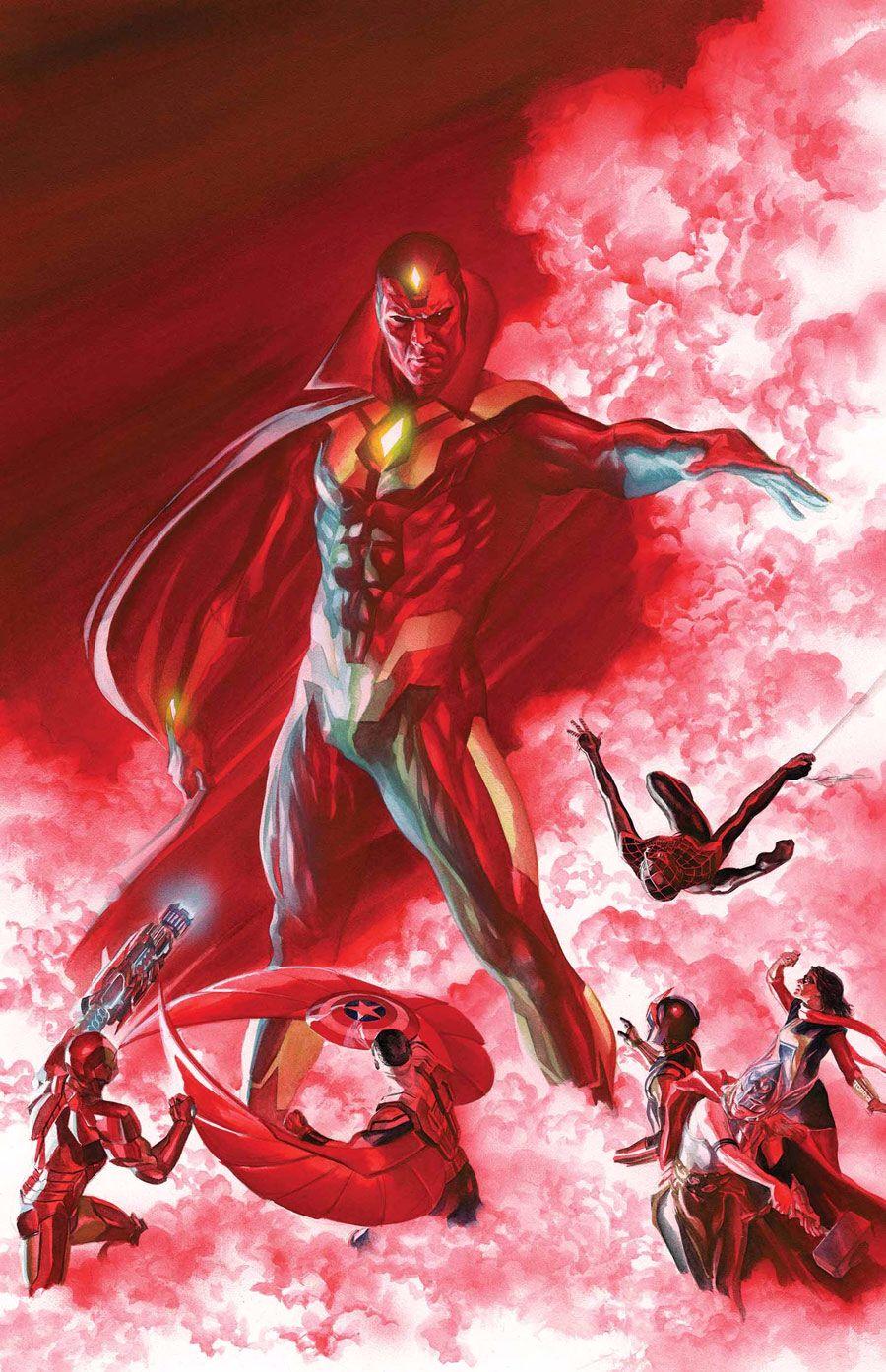 Vision | Marvel, Alex ross, Marvel comics art