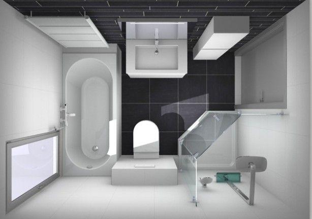 indeling kleine badkamer - Huis en Tuin | Pinterest - Kleine ...