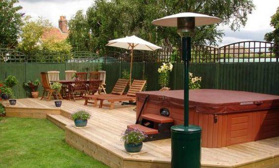 20+ Most Beautiful Deck Hot Tub Ideas For Joyful Backyard #hottubdeck
