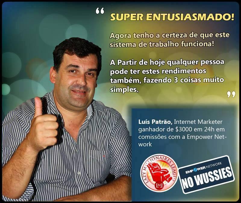 As duvidas de Luis Patrão acabaram no dia em que ganhou 3000 dólares, se ainda tens duvidas, não duvides. Vem conhecer o sistema: http://smb01.com/1383954962