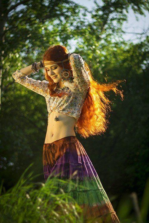 hippie redhead Goddess