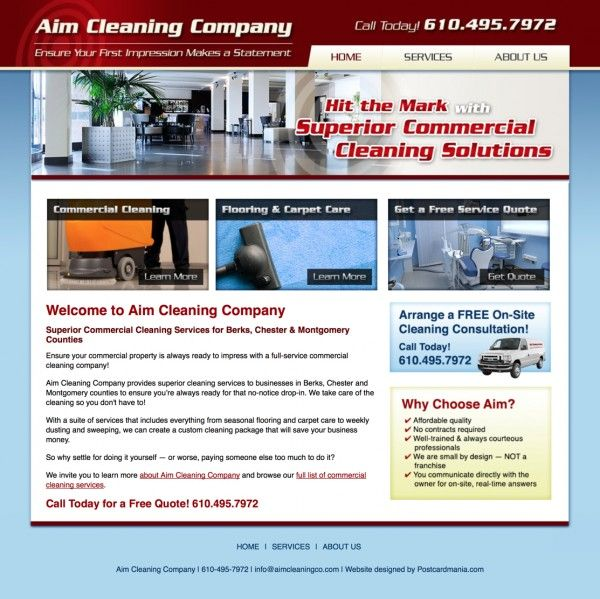 Commercial Cleaning Services Website Design Analysis Limerick Pa 19468 Commercial Cleaning Website Design Fun Website Design