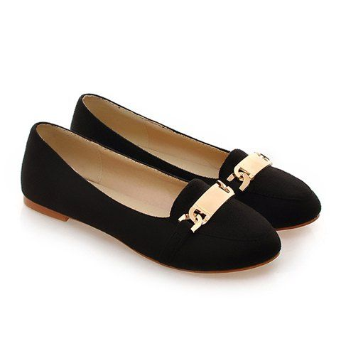 Sequined Design Flat Shoes For Women