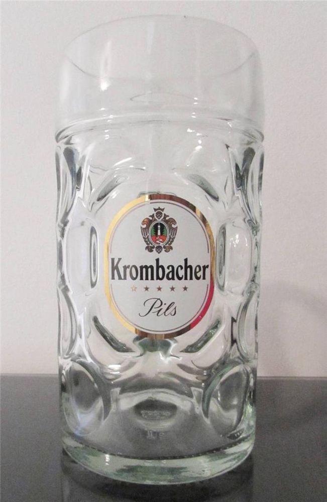 Krombacher Pils Dimpled Beer Mug Stein 1.25 liter - 42oz ...