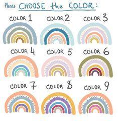 Rainbow Decals - Color Rainbow Stickers, Rainbow D