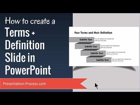 6) How to Create Terms  Definition Slide in PowerPoint - YouTube