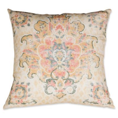 Bed Bath And Beyond Decorative Pillows Cool Tabriz Medallion Square Throw Pillow In Tan  Bed Bath & Beyond  Dc Decorating Design
