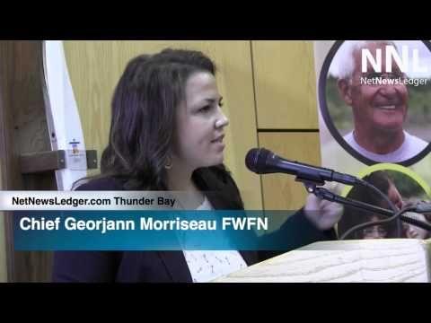 Chief Georjann Morriseau FWFN   Thunder Bay Press Conference   Anti Racism June 13 2014 0