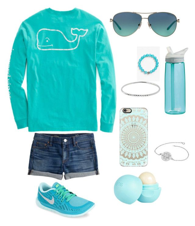 """""""Blue and silver"""" by jennagj on Polyvore featuring NIKE, CamelBak, J.Crew, Tiffany & Co., Lagos, Casetify, River Island and Alison & Ivy"""