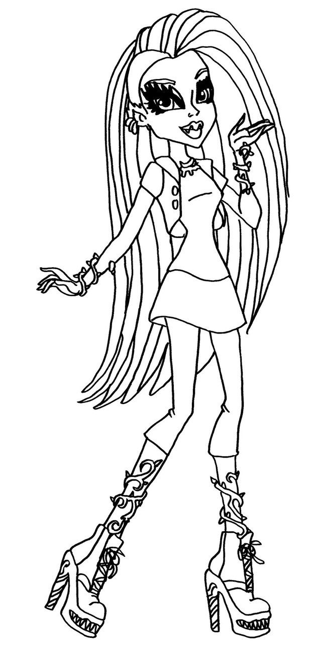 Free Printable Monster High Coloring Pages for Kids | Kids color ...