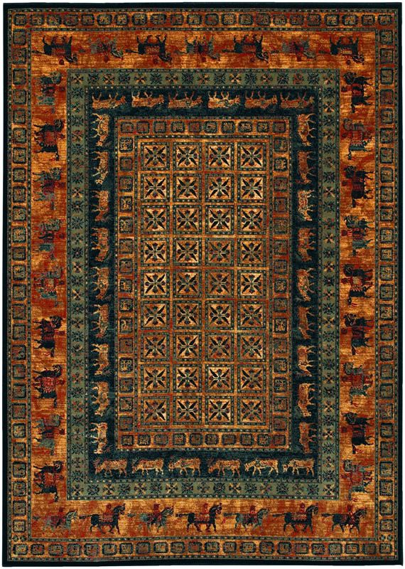 Old World Classics Pazyrk Burnished Rust Animal Print Wool Area Rug Couristan Rugs Area Rugs Rugs On Carpet