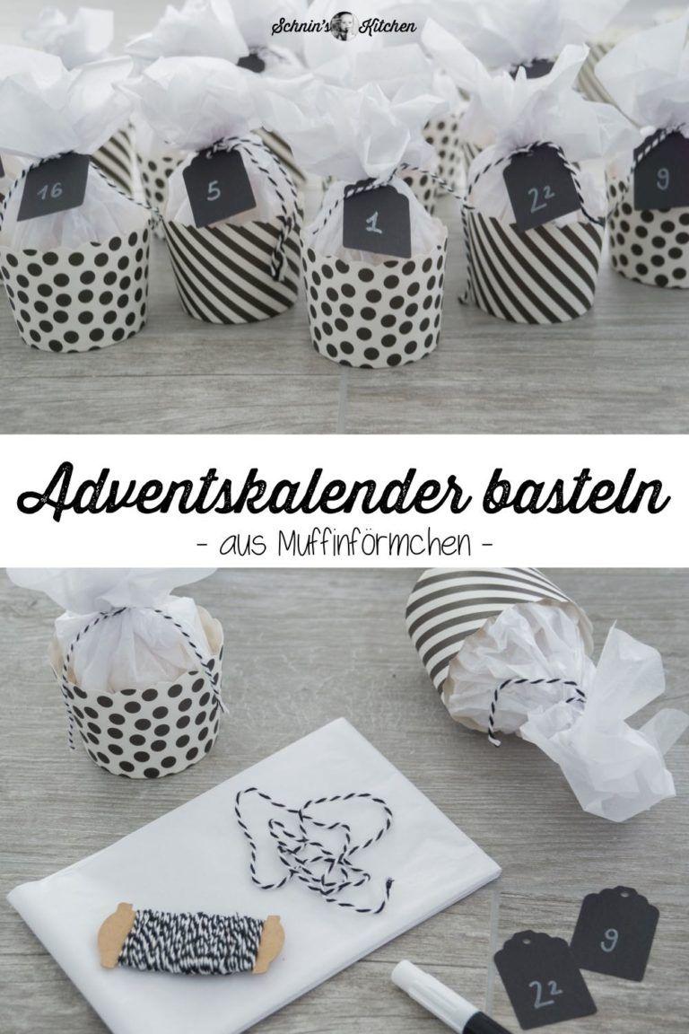Adventskalender basteln aus Muffinförmchen - Schnin's Kitchen #adventskranzideenkinder