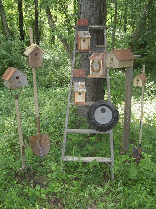 Primitive Outdoor Decor | Primitive birdhouse garden decor - Primitive Outdoor Decor Primitive Birdhouse Garden Decor