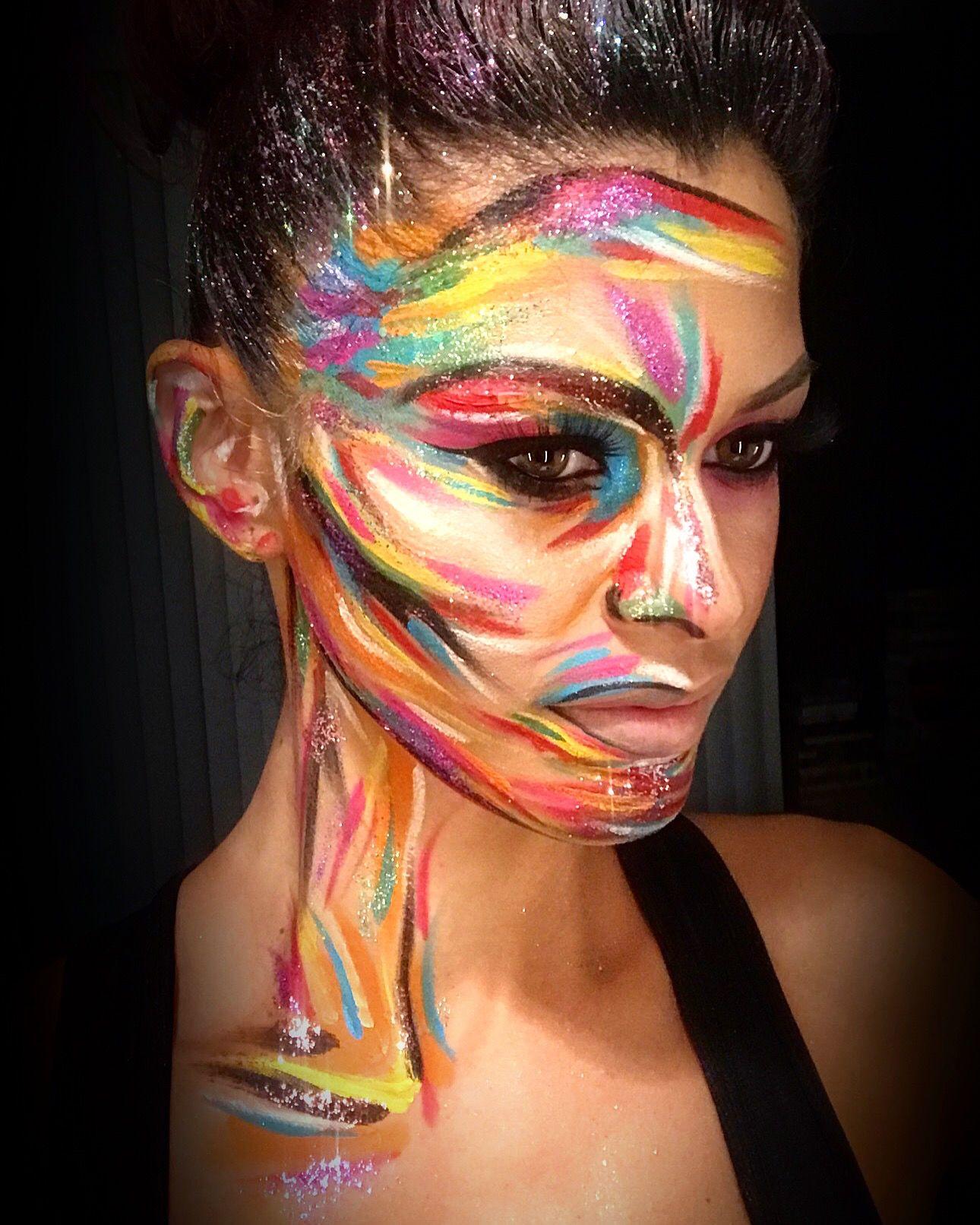Abstract Art Makeup
