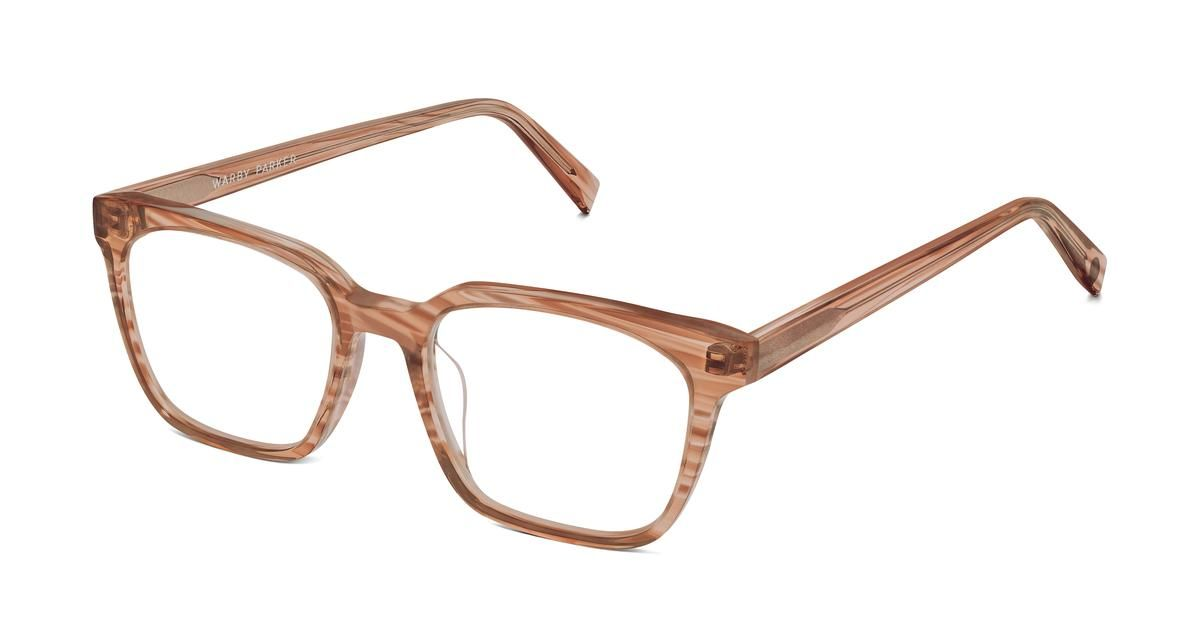 2a4e8c69bc Hughes Small Eyeglasses in Chestnut Crystal for Women. Narrow faces will  take to Hughes Small