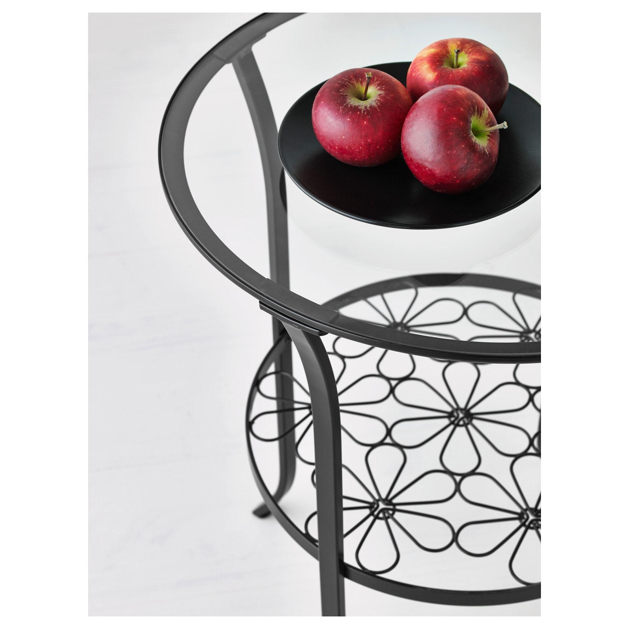 Klingsbo Side Table Black Clear Glass 49x62 Cm 19 1 4x24 3 8 In 2020 Black Glass Side Table Glass Side Tables Ikea [ 2000 x 2000 Pixel ]