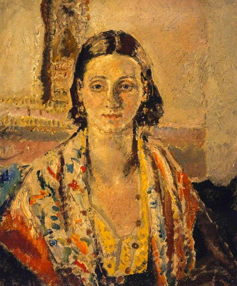 The Spanish Shawl, c.1921-26 by Dame Ethel Walker (British 1861–1951)
