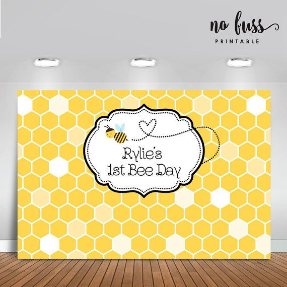 First Bee Day Backdrop Party Banner Poster Signage