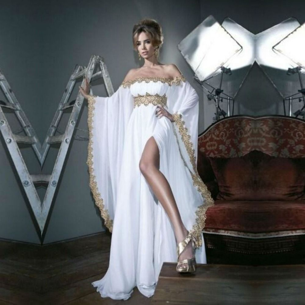 Find more evening dresses information about sexy split dubai gold