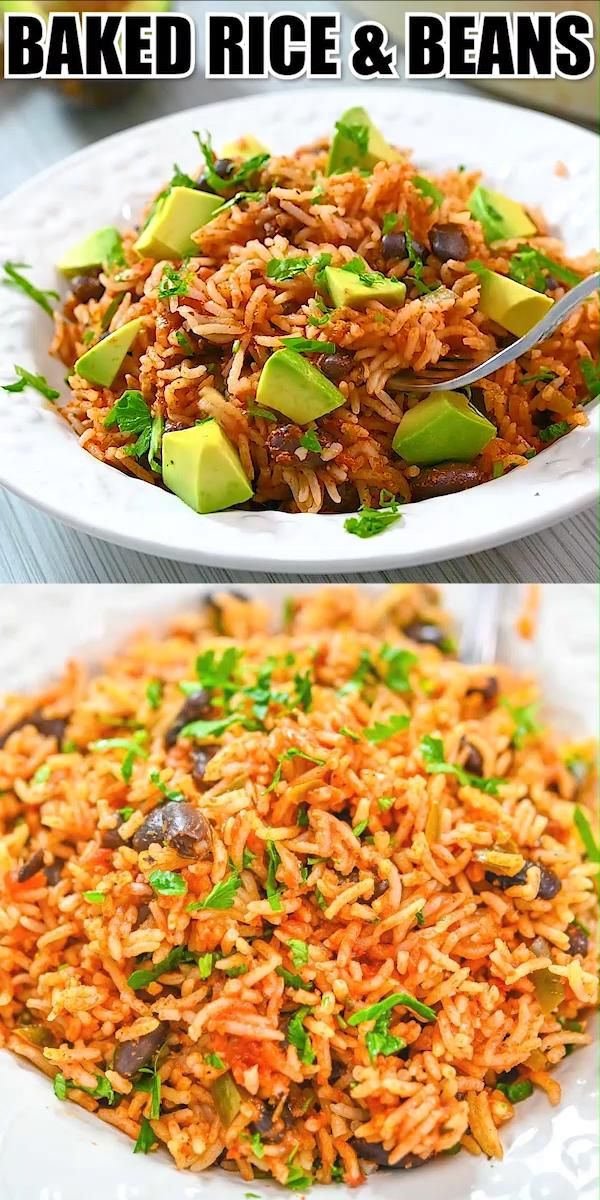Baked Rice and Beans