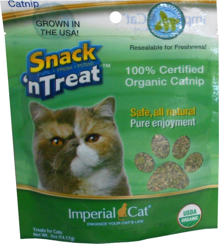 Snack 'n Treats Certified Organic Catnip, 1/2 oz. *** You