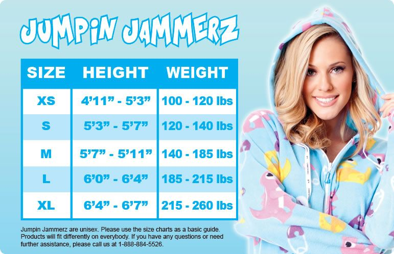 Size Chart | Adult onesie, Footed onesies, Adult footed ...