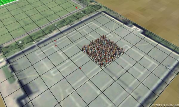 3505 3.5 people per square metre (350 people in 100