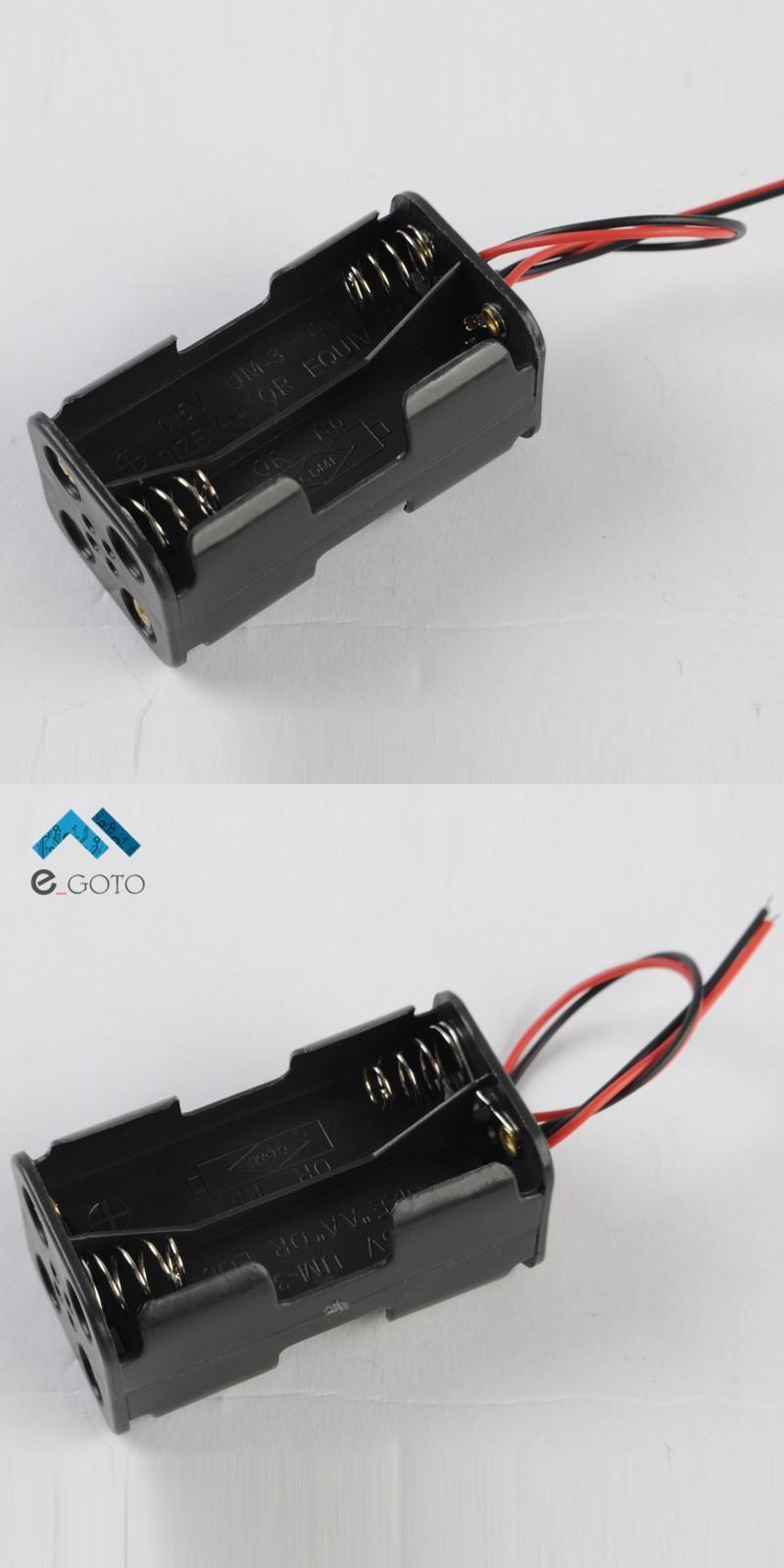 Visit to Buy] 2pcs 4*AA 4xAA 6V Battery Holder Box Battery Case ...