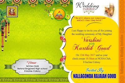 Wedding Invitation Card Psd Vector Template Free Online Adobe