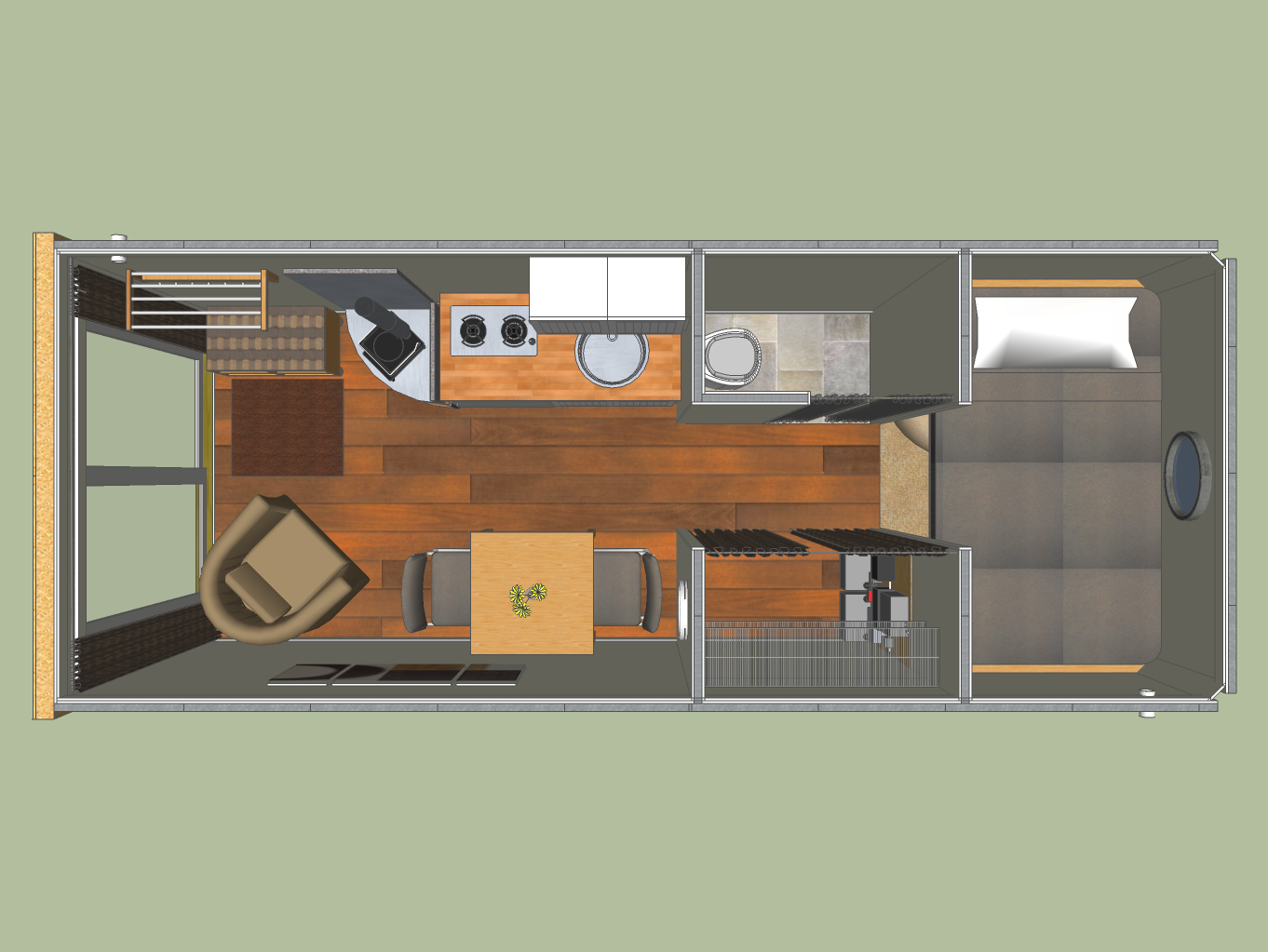40-foot container home pictures | floor plan for 8' x 40' shipping