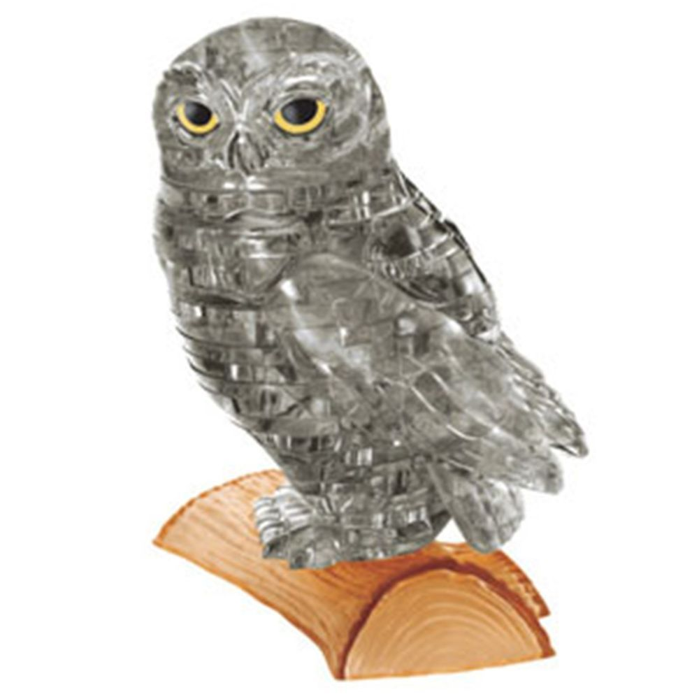 Jeruel 3d Crystal Puzzle Diy Jigsaw Assembly Model Miniature Gift Toy Owl Black 3d Crystal Miniature Gift Owl