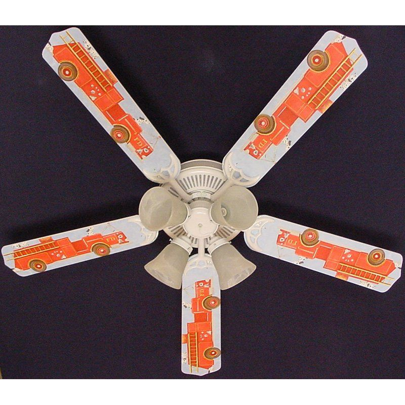 Ceiling Fan Designers 52 in. Dalmatians Fire Truck 2 Indoor Ceiling Fan - 52FAN-KIDS-FTD