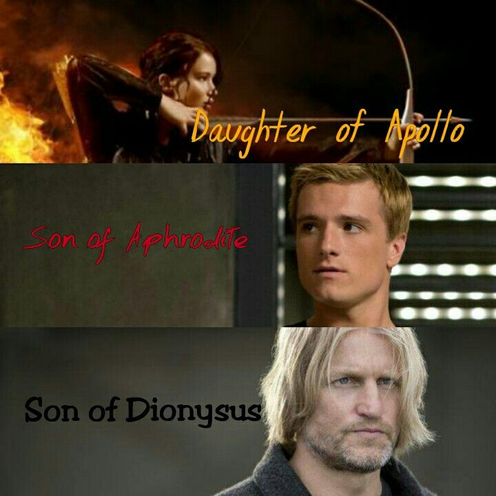 katniss is daughter of apollo peeta is son of aphrodite