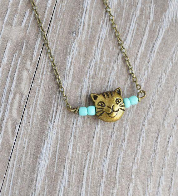 Kitty Cat Necklace Cat Jewelry Crazy Cat Lady Hello by LOVEnLAVISH, $16.00