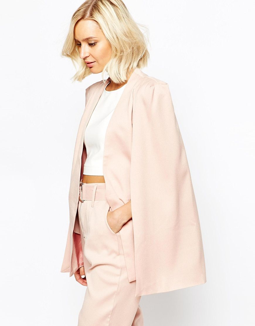 Perfect cape blazer in the perfect pastel colour http://asos.do/tbMRXK