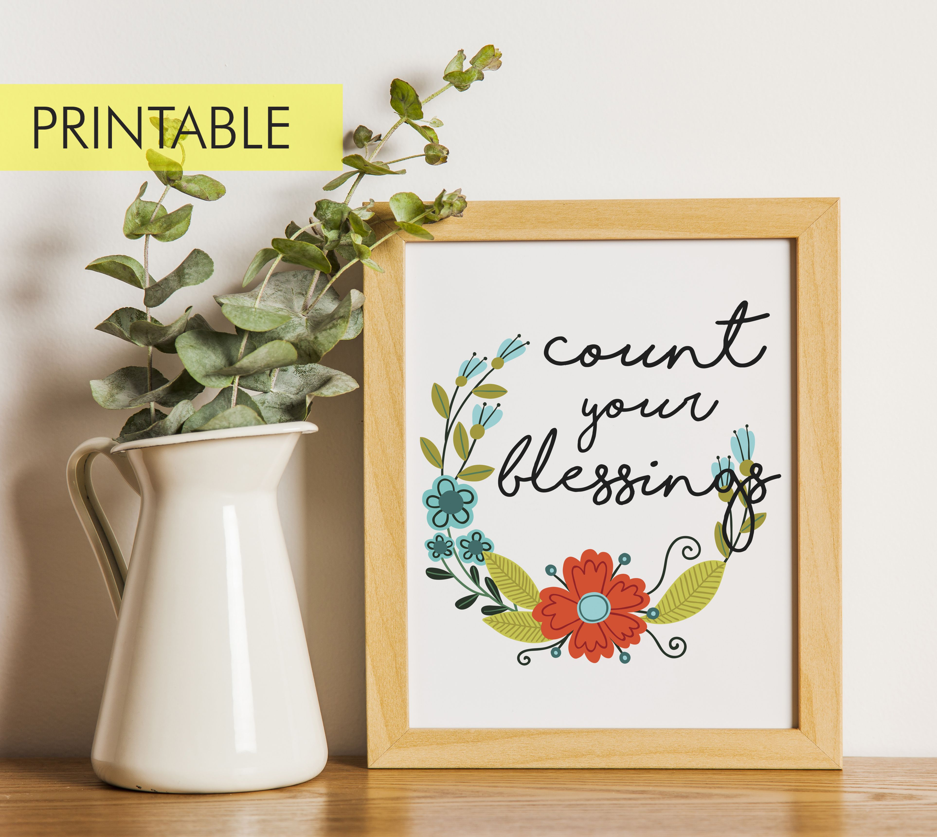 Printable Count Your Blessings File Instant Download