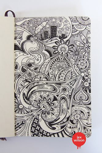Moleskine illustration #43: \'The inner workings of the cosmos [or ...