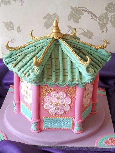 Pink Pagoda cake by Deborah Hwang Cakes