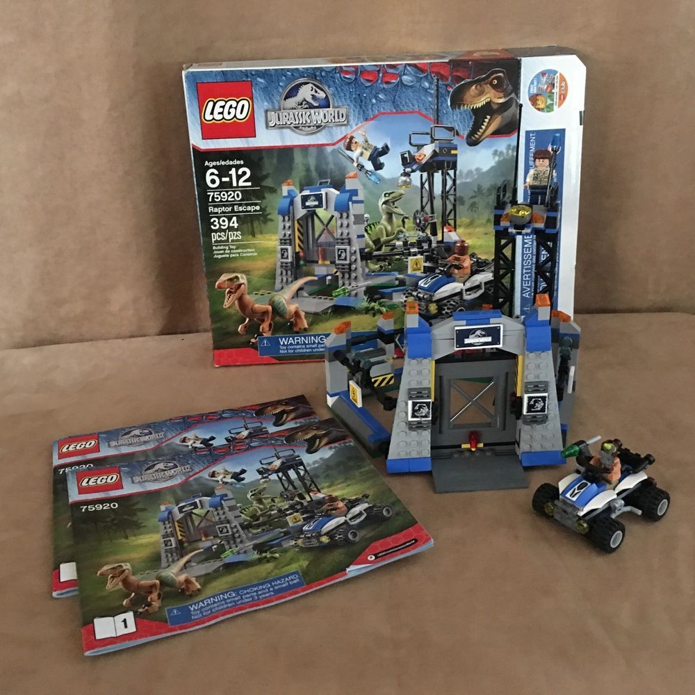 75920 Lego Note No Dino Jurassic World Raptor Escape Box