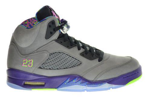 Air Jordan 5 Retro Bel Air Fresh Prince Mens Shoes Grey/Pink-Purple 621958