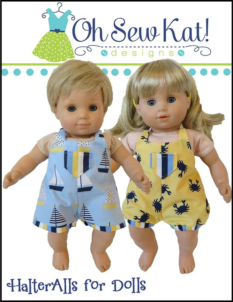 Halteralls For Dolls 15 Baby Doll Clothes Baby Doll Clothes Patterns Doll Clothes Baby Doll Clothes